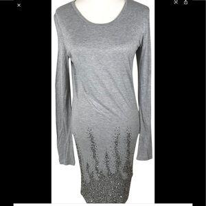 Haute Hippie James Perse Beaded t-shirt dress